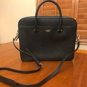 "Kate Spade 13"" Saffiano Laptop Bag Black NEW"